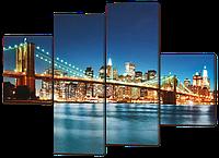 Модульная картина Вид на Бруклинский Мост