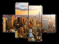 Модульная картина Вид на мегаполис