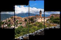 Модульная картина Вид на Итальянский городок