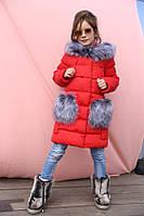 Детское зимнее Пальто на девочку бренда Nui Very Полианна Размер 122