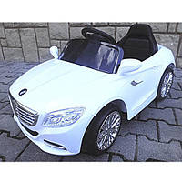 Электромобиль детский машина автомобиль для детей EVA колеса белая Cabrio S1