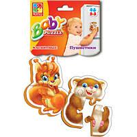 Магнитные беби пазлы Пушистые//(VT3208-04)