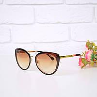 Очки женские от солнца в стиле Chanel коричневые 301671 , магазин очков