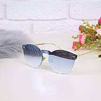 Очки женские от солнца в стиле Dior голубые, магазин очков