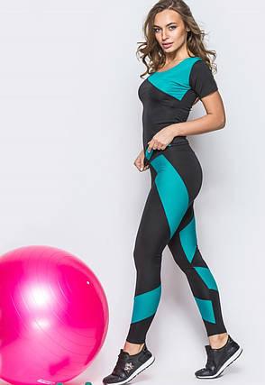 Костюм для фитнеса футболка+лосины TETRA , фото 2