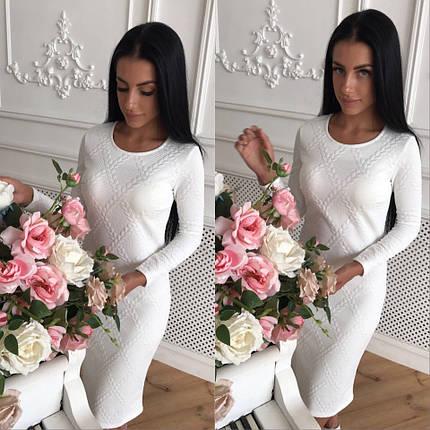 Модное женское платье с длинным рукавом, фото 2