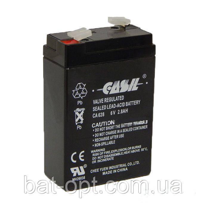 Аккумуляторная батарея Casil 6V - 2.8Ah CA 628 свинцово-кислотный