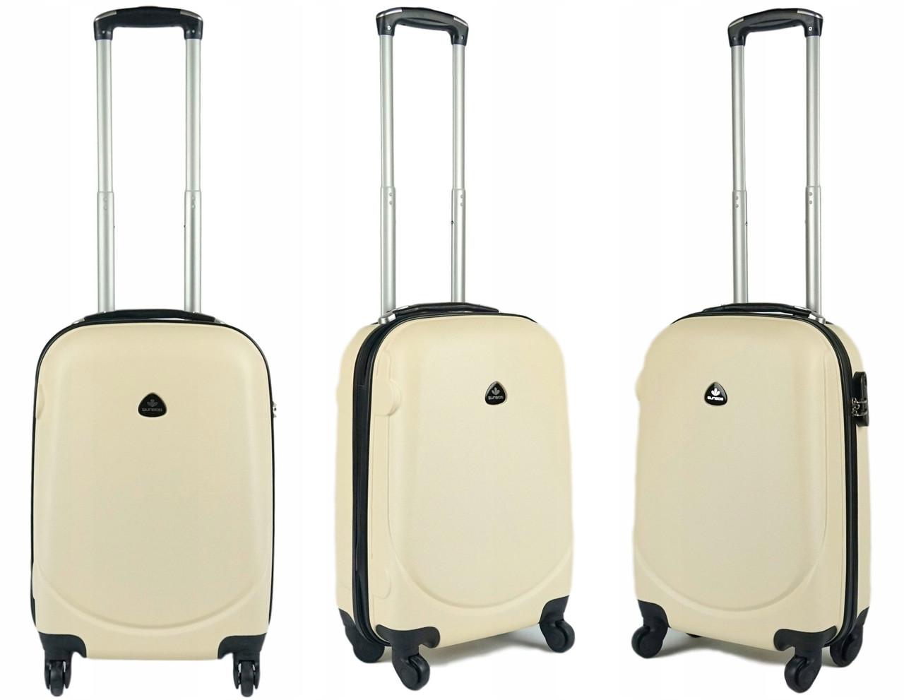 Копія  Пластиковый чемодан S (маленький) на четырёх колёса SunBag
