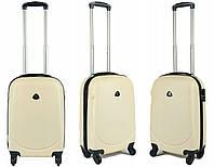 Копія  Пластиковый чемодан S (маленький) на четырёх колёса SunBag, фото 1