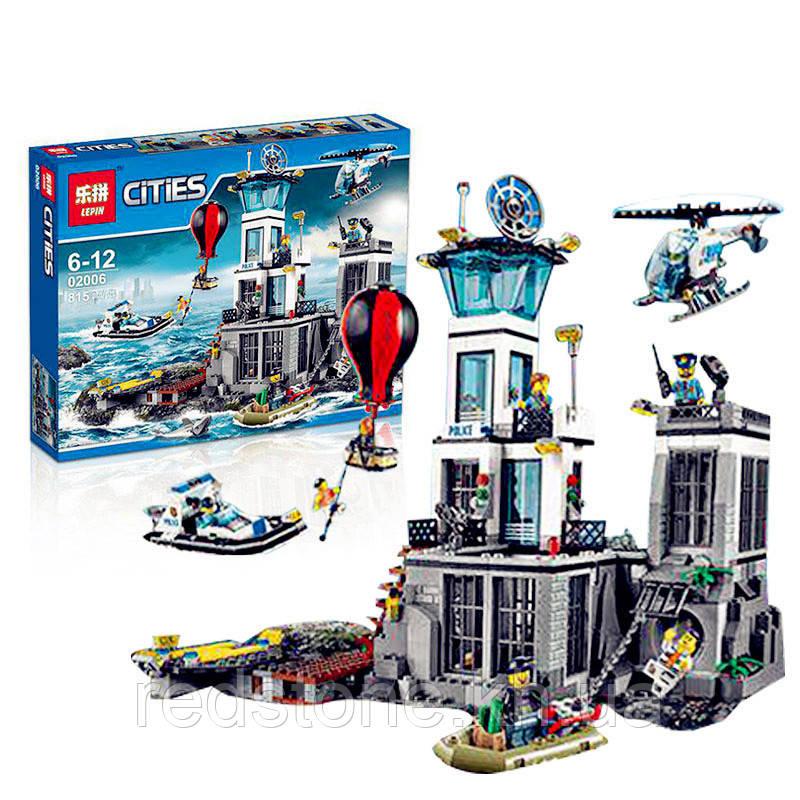 Конструктор Lepin 02006 (Lego City 60130) ¨Остров-тюрьма¨, 815 дет