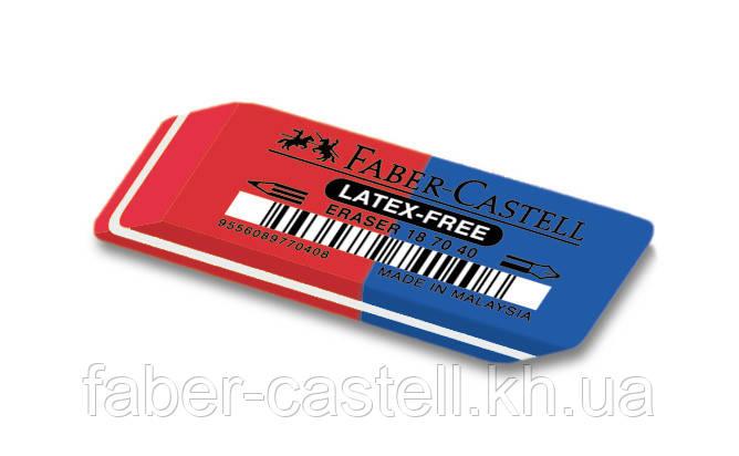 Ластик Faber-Castell  7070-40 красно-синий, 187040