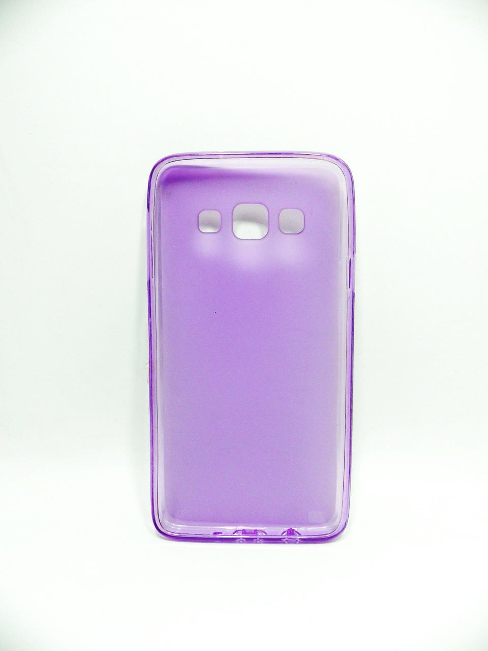 """Накладка Samsung A3/A300 """"Силикон"""" Фиолетовый"""