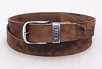 Мужской кожаный ремень Levis коричневый, фото 1