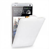 """Чехол-флип  HTC One 802w Dual Sim """"Melkco"""" белый"""