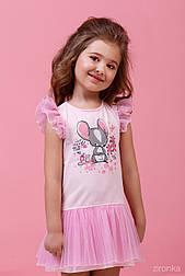 Платье для девочки летнее с принтом