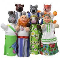 Кукольный домашний театр СОЛОМЕННЫЙ БЫЧОК ((премиум упак., 7 персонажей, книжка) //(B162/B155)