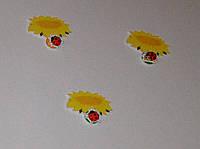 Магнитный стенд для крепления рисунка магнитом Подсолнушки