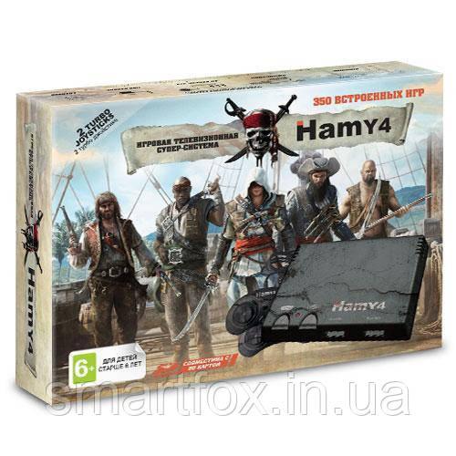 """Игровая приставка SD card """"Hamy 4""""8+16бит Assassin Creed ЧЕРНАЯ (350 встроенных игр)"""