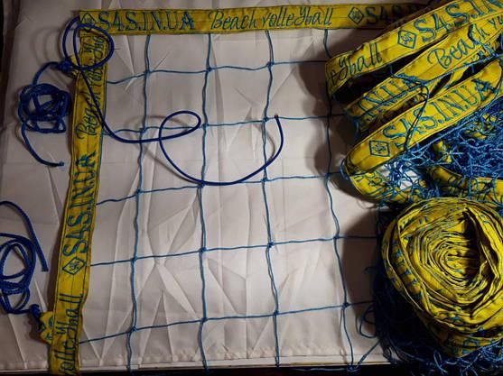 Сетка для пляжного волейбола с паракордом «БРЕНД ПЛЯЖНЫЙ» сине-желтая, фото 3