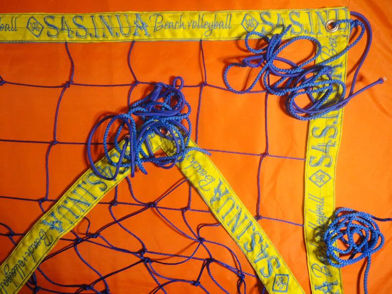 Сетка для пляжного волейбола с паракордом «БРЕНД ПЛЯЖНЫЙ» сине-желтая, фото 2
