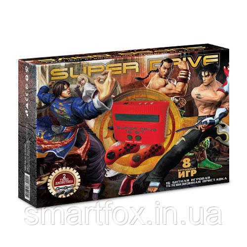 Игровая приставка 16-bit Sega Super Drive Tekken (8 встроенных игр)