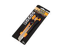 Нож с обрезиненной рукояткой Polax винтовой фиксатор 18 мм (23-003)