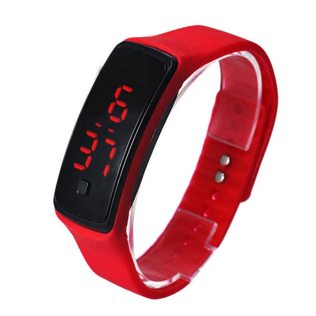 Часы Silicone digital LED Watch красные