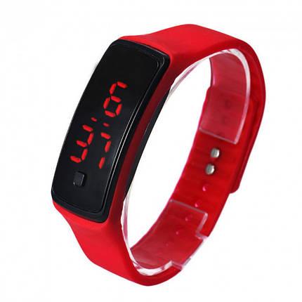 Часы Silicone digital LED Watch красные, фото 2