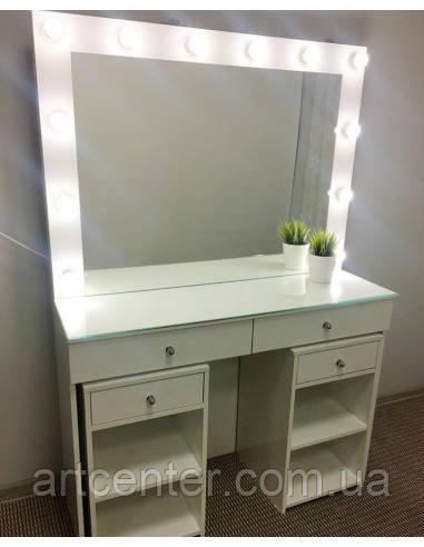 Стол для визажиста,  туалетный столик,  гримерный стол с двумя тумбами