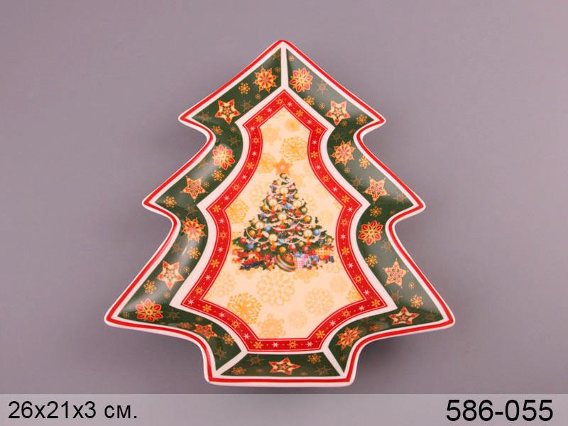Блюдо Lefard Christmas collection 26х21 см , 586-055