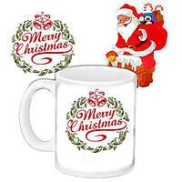 Кружка подарок с принтом Дед Мороз