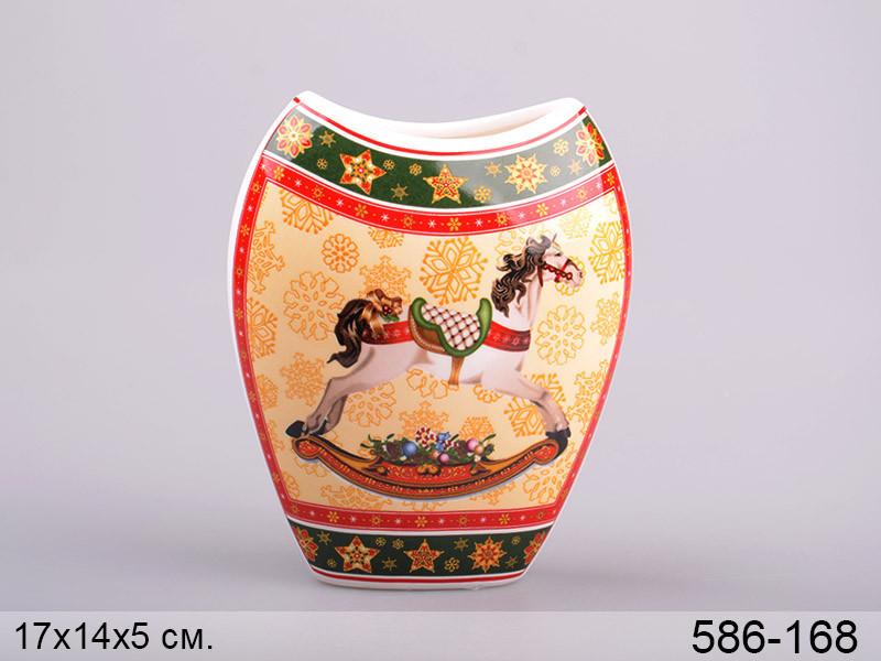 Ваза Lefard Christmas collection 17 см , 586-168