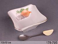 Блюдо с ложечкой Lefard Лук 10х10х4,5 см, 178-795