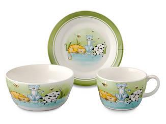 Набор детской посуды Lefard Веселые котята 3 предмета, 359-166