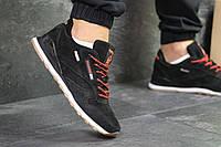 Кросівки чоловічі Reebok Classic замшеві весняні зручні повсякденні під джинси (чорно-білі), ТОП-репліка, фото 1
