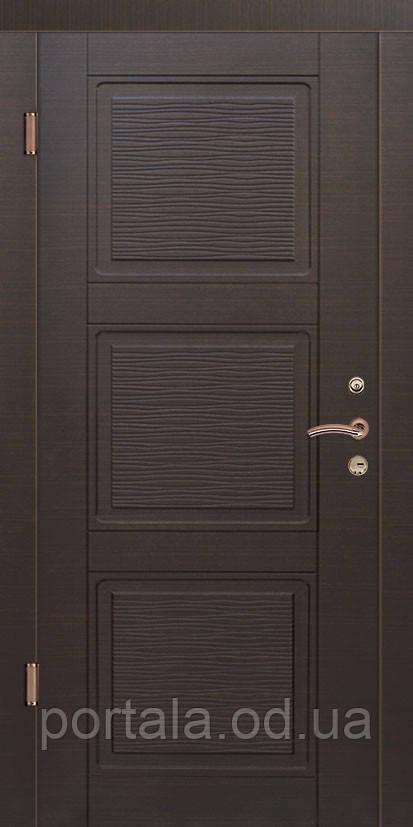 """Вхідні сталеві двері для квартири """"Портала"""" (серія Стандарт) ― модель Верона-3"""