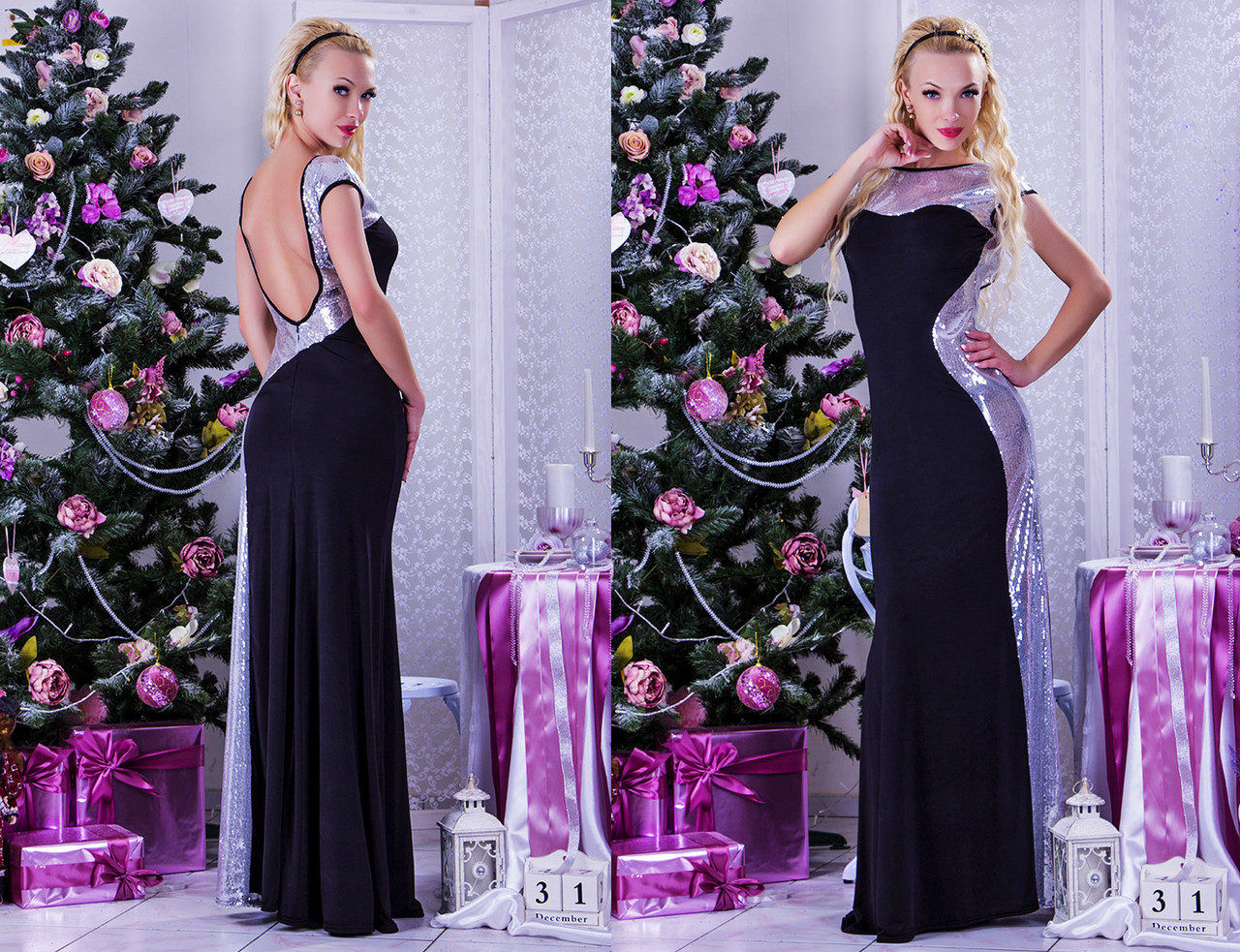 6bb9749762d Вечернее длинное женское платье с открытой спиной