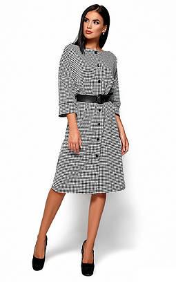 (S, M, L, XL) Класичне стримане плаття в клітку Uliana