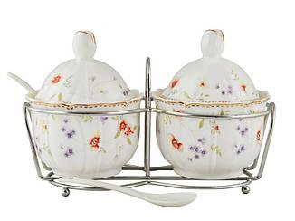 Набор баночек для соусов на подставке с ложечками Lefard Лаура, 943-048