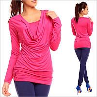 Ярко-розовая женская кофта, яркая женская одежда