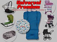 НОВИНКА Матрасик-трансформер в коляску Universal Premium (синий) - ART-0000108