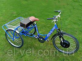 Трехколесный велосипед 3-колеса 36В 500ВТ (прямоприводный мотор) на свинцовых батареях
