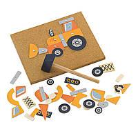 Набор для творчества Строительная техника, (45 дет.), Viga Toys (50336)