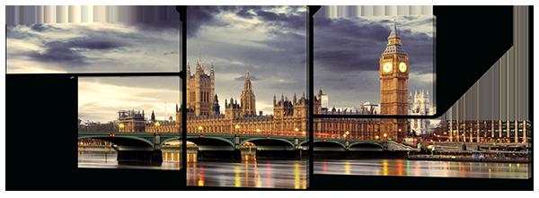 Модульная картина Лондон, Биг Бен, Темза