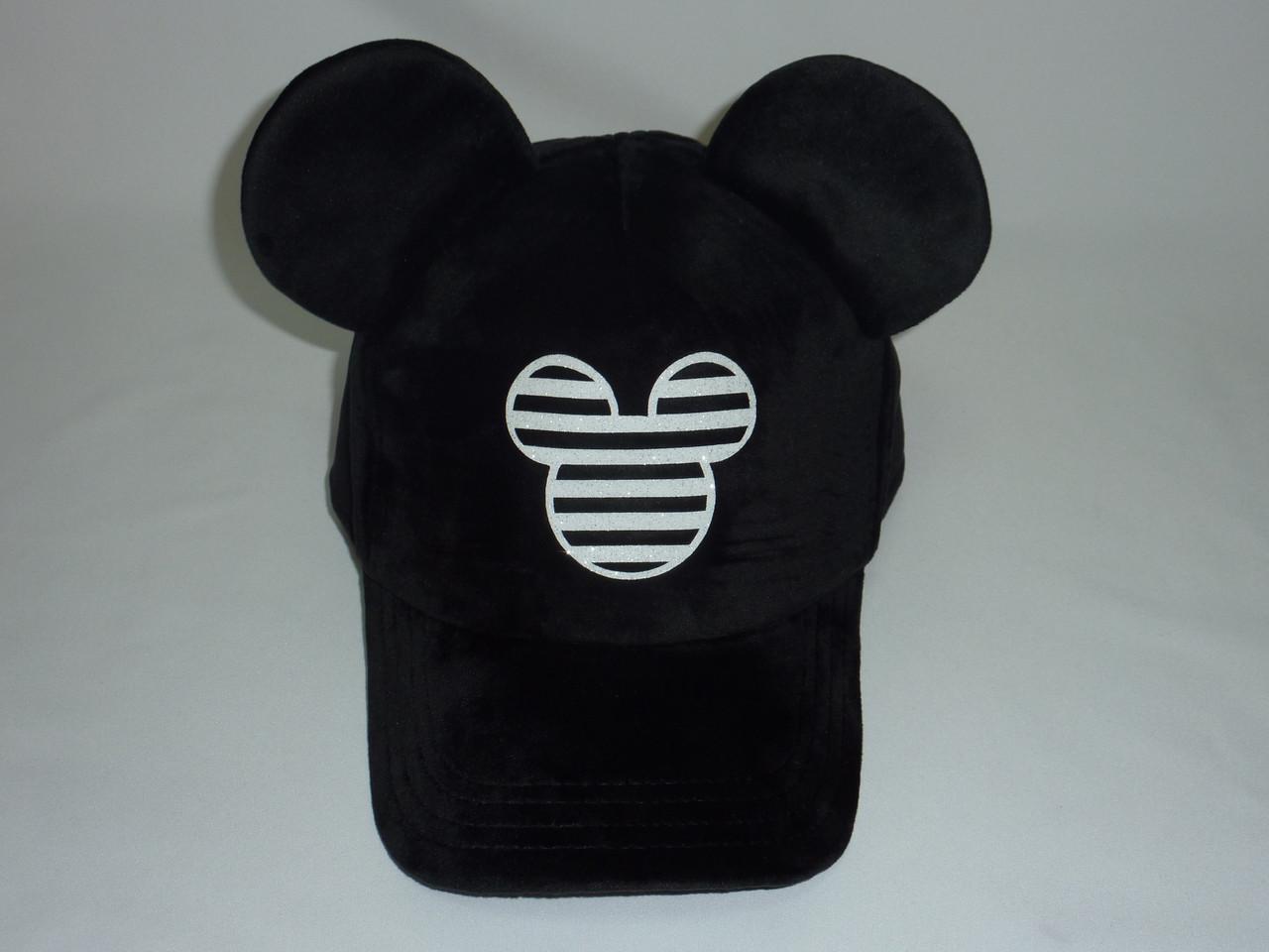 Велюровая кепка с ушками MINI