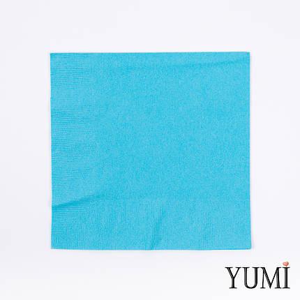Серветка Caribbean Blue блакитна 33 см / 20 шт, фото 2