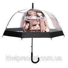 """Зонт-трость прозрачный с изображением """"Мэрилин Монро"""", фото 2"""