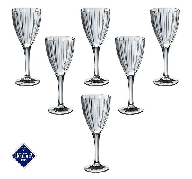 Набор бокалов для вина Bohemia Jihlava Карен 200 мл 6 штук 663-071