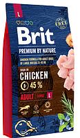 Сухой корм Brit Premium Adult L Брит для собак крупных пород 3 кг