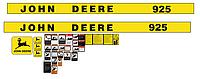 Наклейки на комбайн John Deere 925